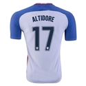USA 2016 ALTIDORE Authentic Home Soccer Jersey