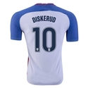 USA 2016 DISKERUD Authentic Home Soccer Jersey