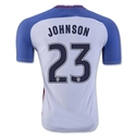 USA 2016 JOHNSON Authentic Home Soccer Jersey