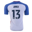 USA 2016 JONES Authentic Home Soccer Jersey