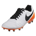 Nike Tiempo Genio II Leather FG (White/Total Orange)