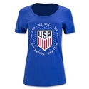 USA Pride Women's T-Shirt (Royal Blue)