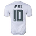 Real Madrid 15/16 James Rodriguez Home Soccer Jersey