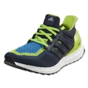 adidas Ultra Boost M Running Shoe (Semi Solar Slime/Navy/Shock Blue)