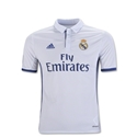 Real Madrid 16/17 Youth Home Soccer Jersey