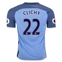 Manchester City 16/17 CLICHY Home Soccer Jersey