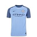 Manchester City 16/17 Youth Home Soccer Jersey