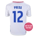 USA 2016 PRESS Youth Home Soccer Jersey