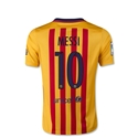Barcelona 15/16 Lionel Messi Youth Away Soccer Jersey