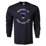 Orange County Blues Soccer LS T-Shirt (Black)