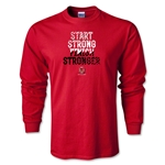 Ohio State Rugby Finish Stronger Long Sleeve T-Shirt (Red)