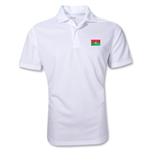 Burkina Faso Polo Shirt (White)