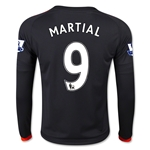 Manchester United 15/16 MARTIAL LS Youth Third Soccer Jersey