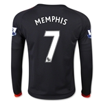 Manchester United 15/16 MEMPHIS LS Youth Third Soccer Jersey