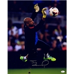 Tim Howard Signed Dive Saving Ball Vertical 16x20 Photo