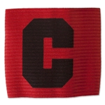 European Style Junior Captain Armband (Red/Blk)