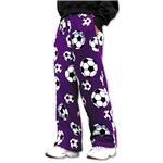 Soccer Ball Lounge Pants (Purple)