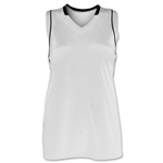 Brine Icon Racer Back Game Women's Lacrosse Jersey (Wh/Bk)