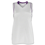Brine Icon Racer Back Game Women's Lacrosse Jersey (Wh/Pu)
