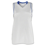 Brine Icon Racer Back Game Women's Lacrosse Jersey (Wh/Ro)