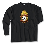 Fire Ball LS Soccer T-Shirt (Black)