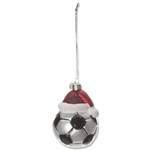 Soccer Ball Santa Hat Ornament