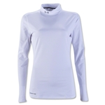Under Armour Women's ColdGear Fitted Mock (White)