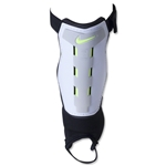 Nike Youth Charge Shinguard (White/Black/Volt)