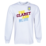 Aston Villa Claret and Blue LS T-Shirt (White)