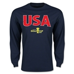 CONCACAF Gold Cup 2015 USA Big Logo LS T-Shirt (Navy)