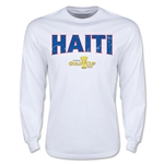 CONCACAF Gold Cup 2015 Haiti Men's Big Logo LS T-Shirt (White)