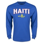 CONCACAF Gold Cup 2015 Haiti Men's Big Logo LS T-Shirt (Royal)