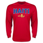CONCACAF Gold Cup 2015 Haiti Men's Big Logo LS T-Shirt (Red)
