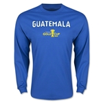 CONCACAF Gold Cup 2015 Guatemala Men's Big Logo LS T-Shirt (Royal)