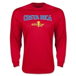 CONCACAF Gold Cup 2015 Costa Rica Men's Big Logo LS T-Shirt (Red)