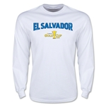 CONCACAF Gold Cup 2015 El Salvador Men's Big Logo LS T-Shirt (White)