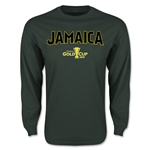 CONCACAF Gold Cup 2015 Jamaica Men's Big Logo LS T-Shirt (Green)
