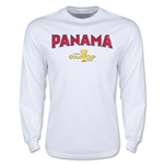 CONCACAF Gold Cup 2015 Panama Men's Big Logo LS T-Shirt (White)