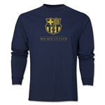 Barcelona Mes Que Un Club LS T-Shirt (Navy)