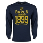 Barcelona Distressed LS T-Shirt (Navy)