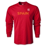 FIFA Confederations Cup 2013 Spain LS T-Shirt (Red)