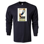 1930 FIFA World Cup Historical Poster Men's Fashion T-Shirt (Black)