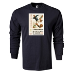 1934 FIFA World Cup Historical Poster Men's Fashion T-Shirt (Black)