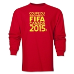 FIFA Women's World Cup Canada 2015(TM) French Logotype LS T-Shirt (Red)