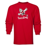FIFA Women's World Cup Canada 2015(TM) Mascot Pose 3 LS T-Shirt (Red)