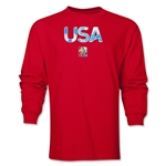 USA FIFA Women's World Cup Canada 2015(TM) LS T-Shirt (Red)