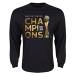USA FIFA Women's World Cup Champions LS T-Shirt (Black)