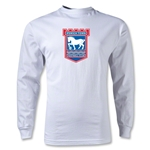 Ipswich Crest Long Sleeve T-Shirt (White)