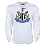 Newcastle United Crest LS T-Shirt (White)