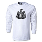 Newcastle United Distressed Crest LS T-Shirt (White)